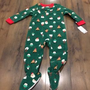 Brand NWT Carter's 24 month footie Christmas pjs